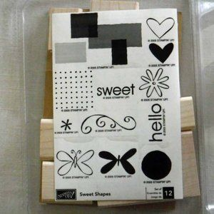 Stampin' Up! Sweet Shapes Stamp Set - New